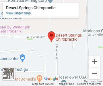map of desert springs chiropractic